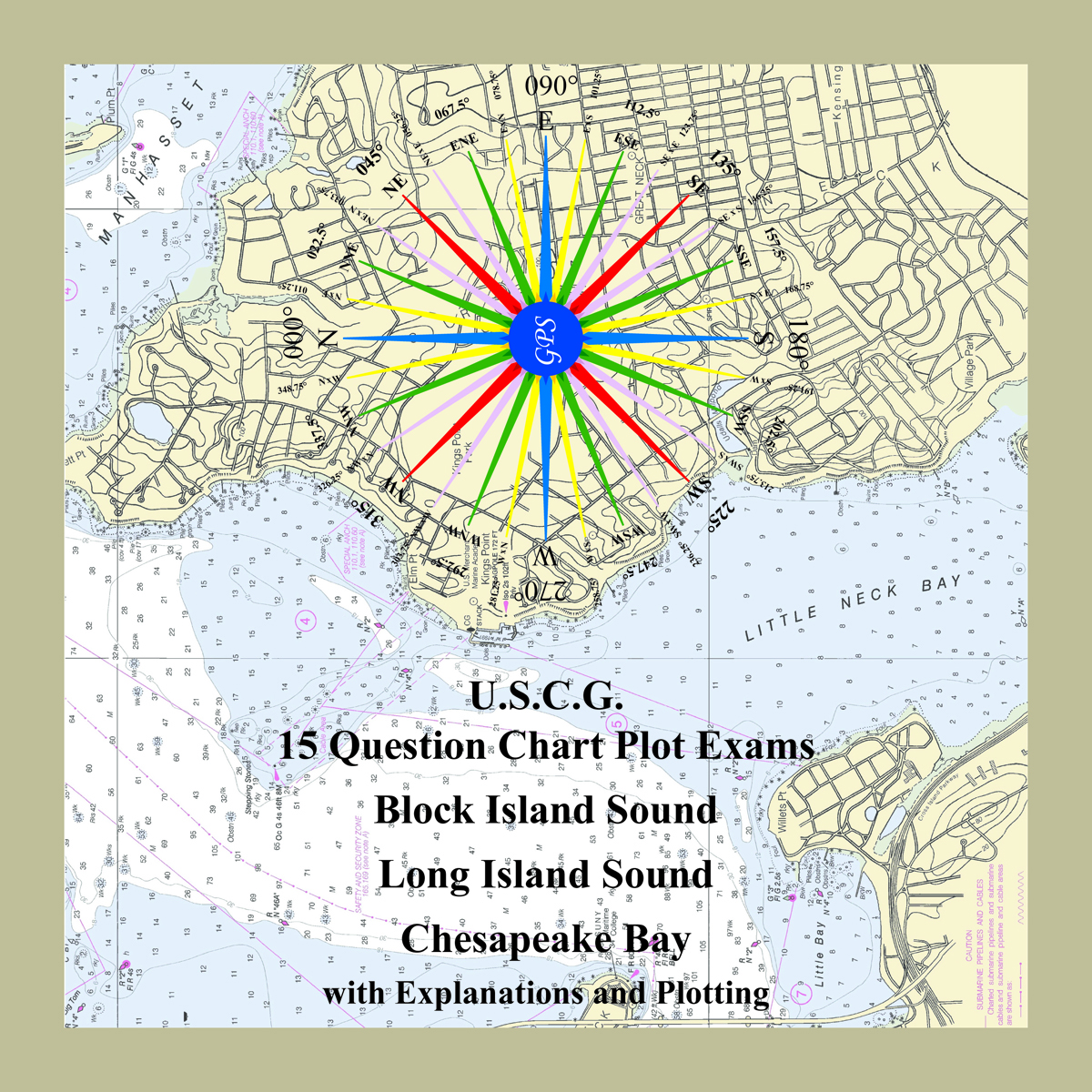 Square U.S.C.G. 15 Question Chart Plot Exams Cover